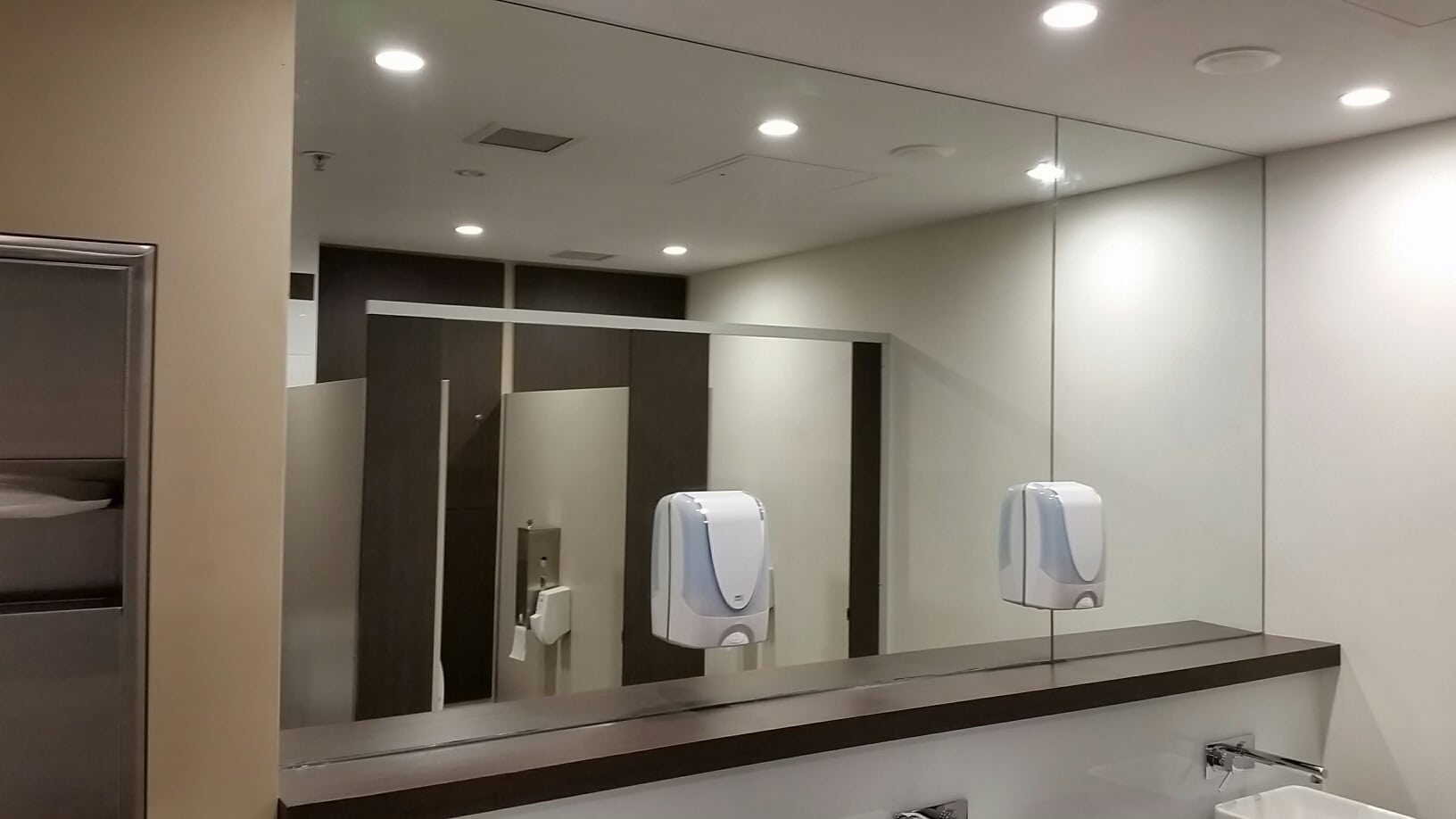 amenities mirror by graphic glass services custom mirrors shower screens and aluminium sliding